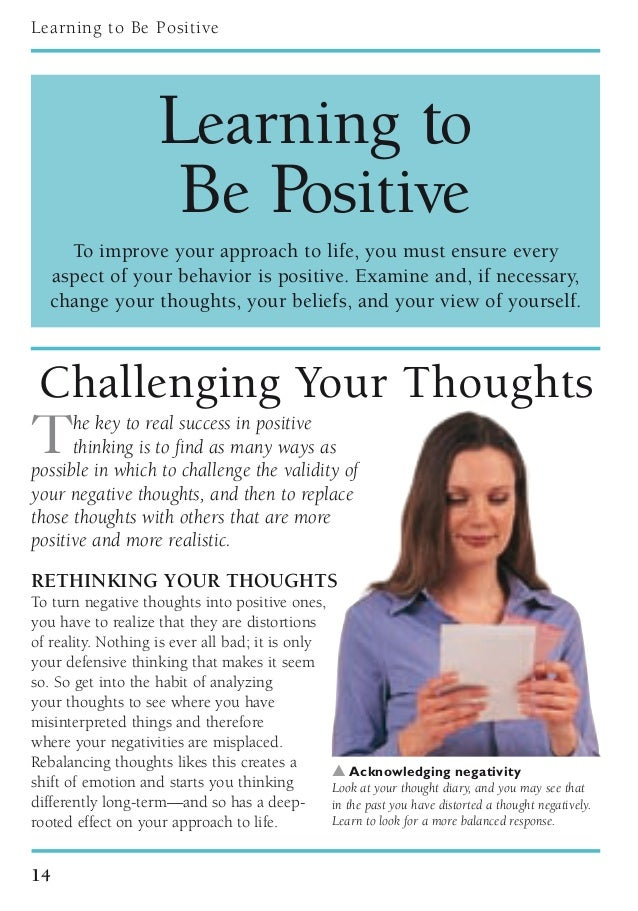 dk essential managers positive thinking quilliam susan