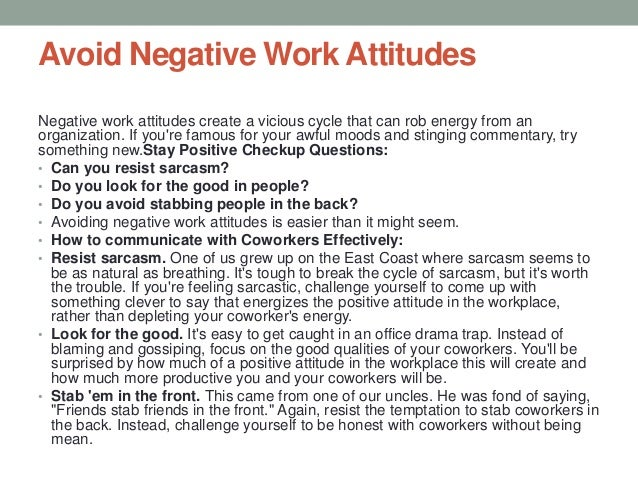 Positive thinking in workplace