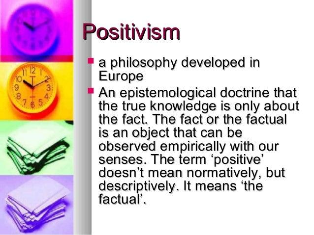 Positivism in Social Science Slide 2