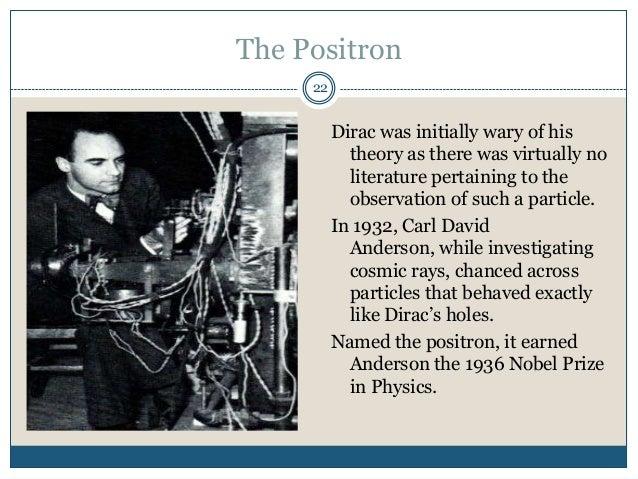 Resultado de imagen de El positrón de Dirac