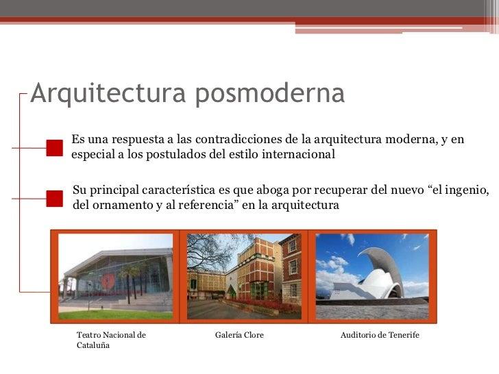 Posmodernidad - Diferencia entre arquitectura moderna y contemporanea ...