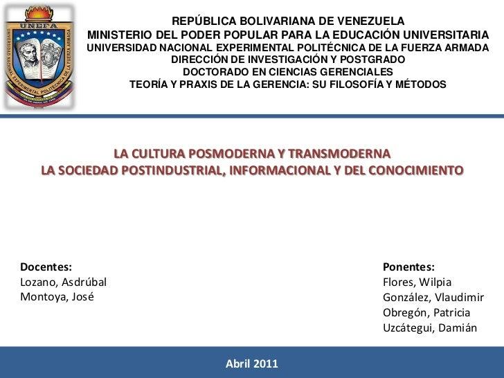 REPÚBLICA BOLIVARIANA DE VENEZUELA            MINISTERIO DEL PODER POPULAR PARA LA EDUCACIÓN UNIVERSITARIA            UNIV...