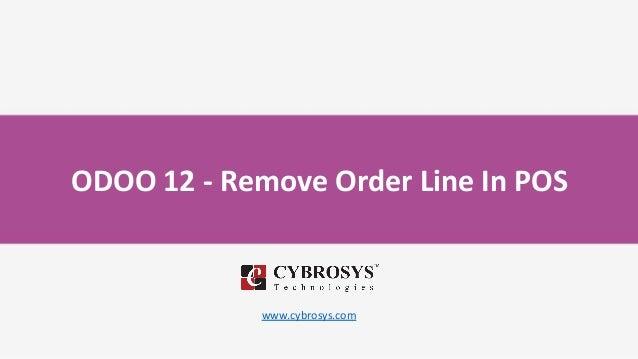 ODOO 12 - Remove Order Line In POS www.cybrosys.com