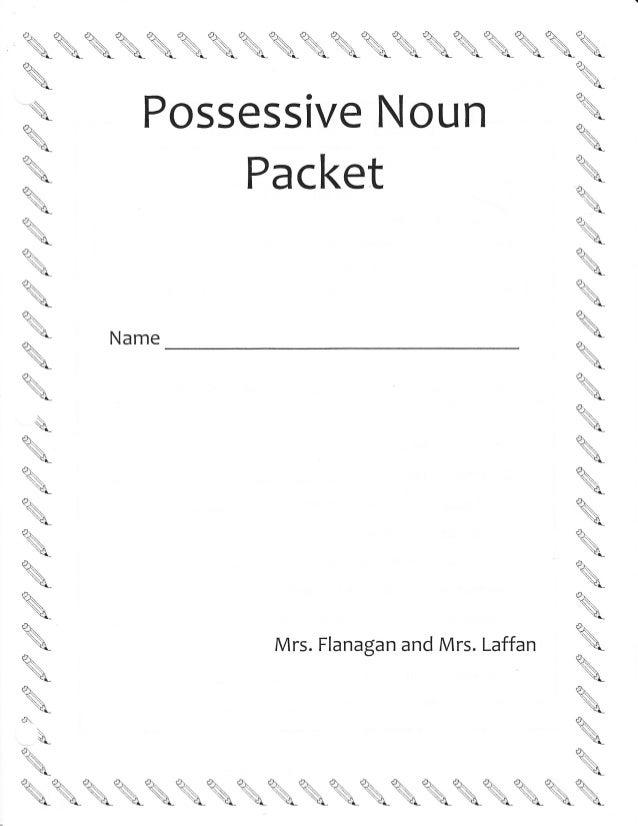 Possessive nouns-multiple-ws