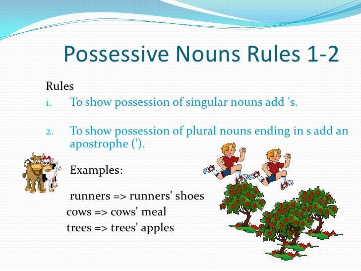Possessive nouns presentation