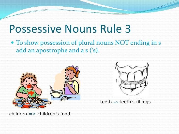 possessive noun worksheet