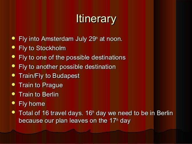 Possible 2012 euro destinations Slide 2