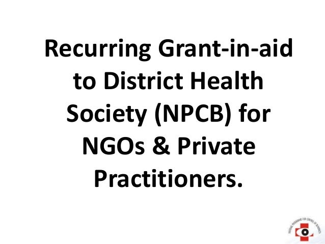 Possible financial assistance from government for ngo