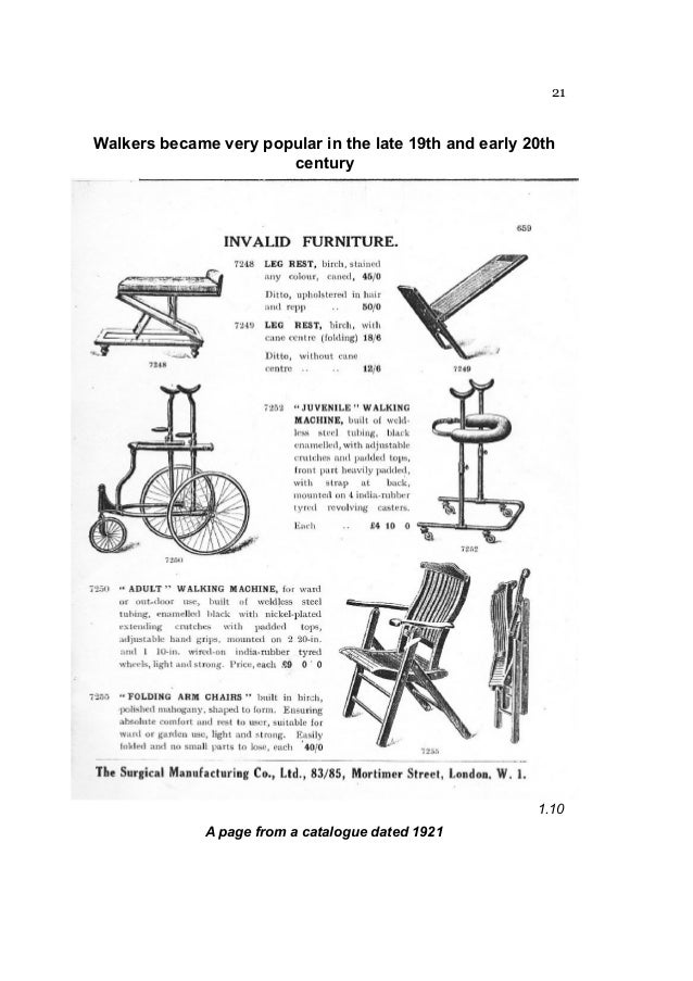 Possibly the first wheeled walking aid (revised) by keith armstrong