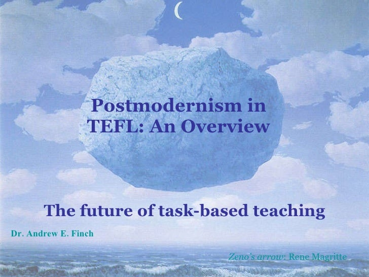 Postmodernism in TEFL: An Overview The future of task-based teaching Zeno's arrow : Rene Magritte Dr. Andrew E. Finch