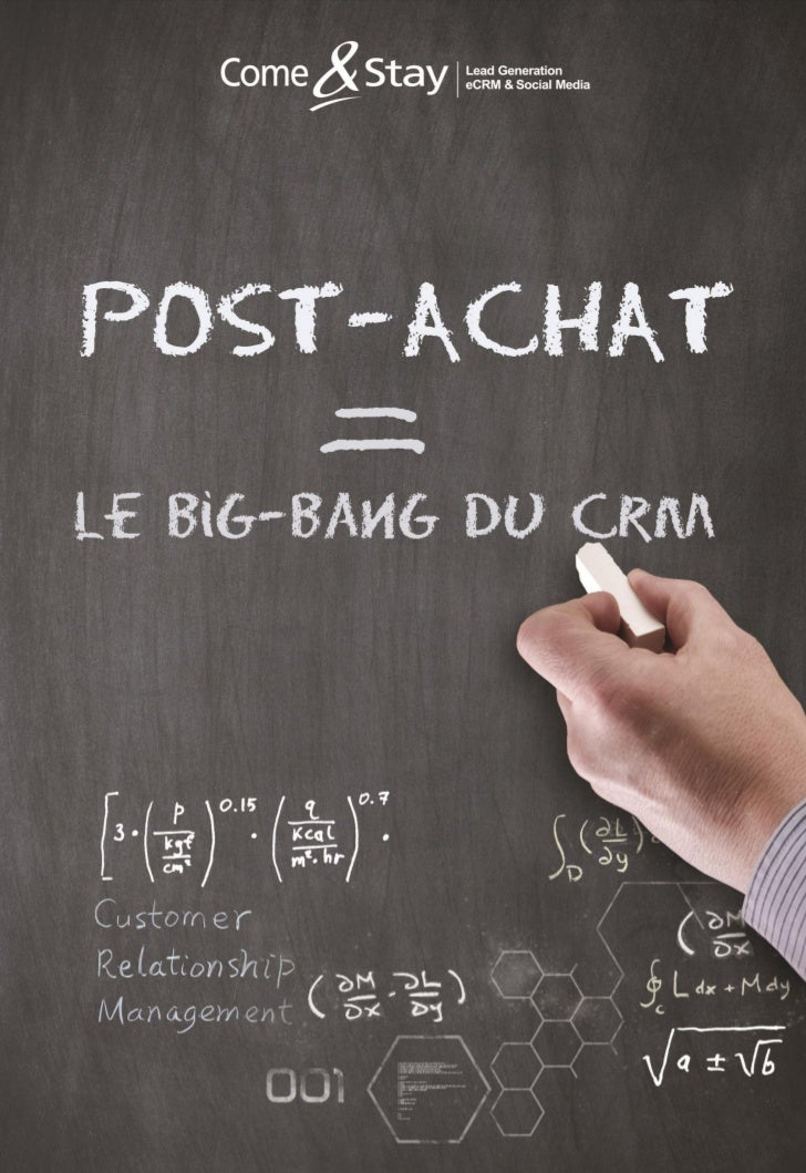 Post-achat :le Bigbang duCRM[Sous-titre dudocument][Nom de l'auteur]