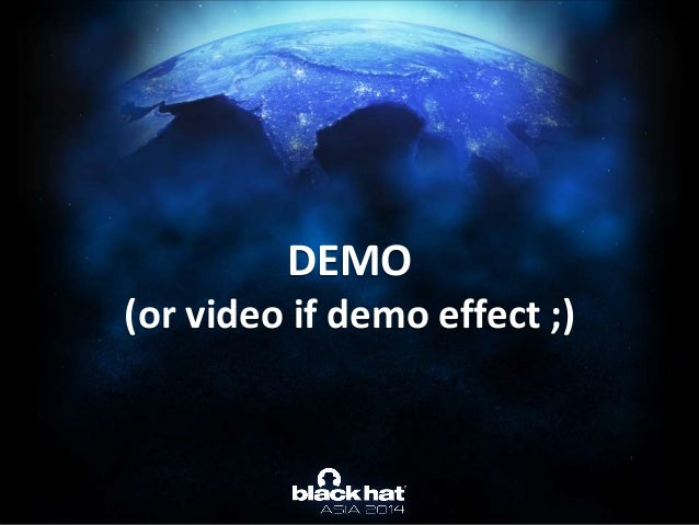 DEMO (or video if demo effect ;)