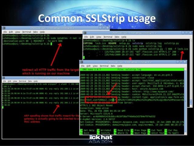 Common SSLStrip usage