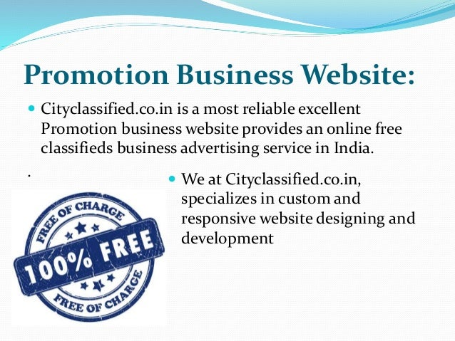 Post free ads in India for promoting your Business online