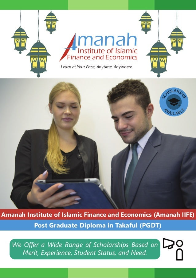 Post Graduate Diploma In Takafulpdf ManahInstitute Of Islamic Finance And Economics Learn At Your Pace Anytime Anywhere Amanah Institute