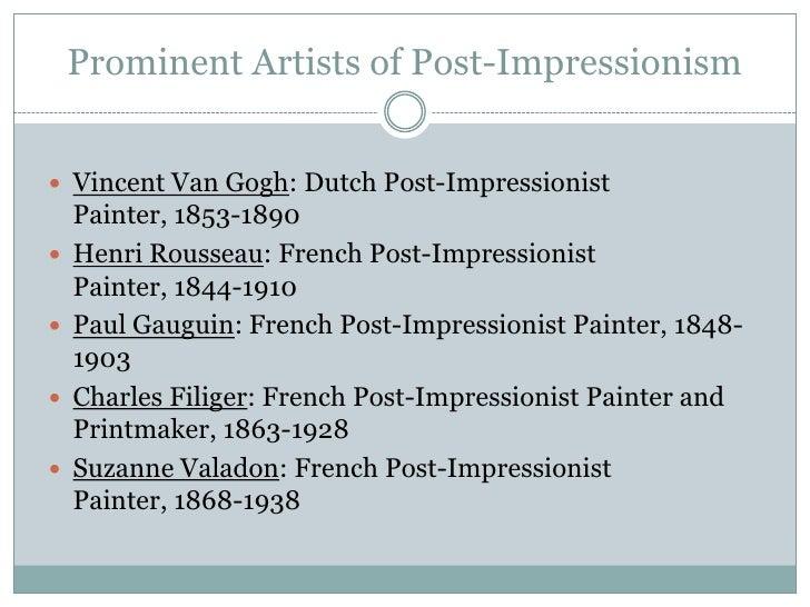 Impressionism vs. Post-Impressionism