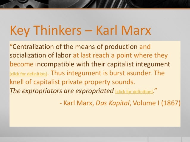 Karl Marx Private Property Definition