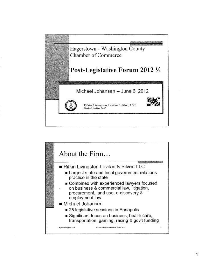 Post Legislative Forum 2012