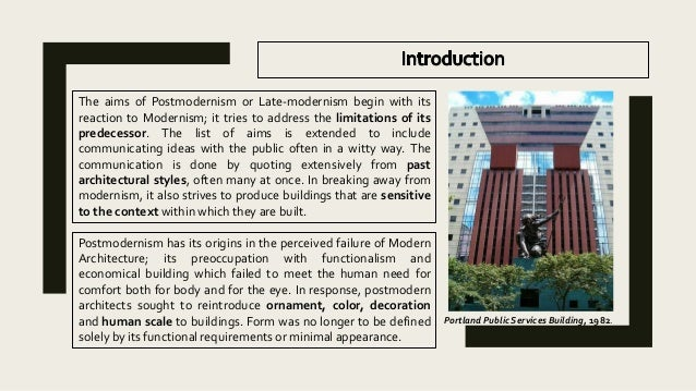 Modern Architecture Origin post modern architecture