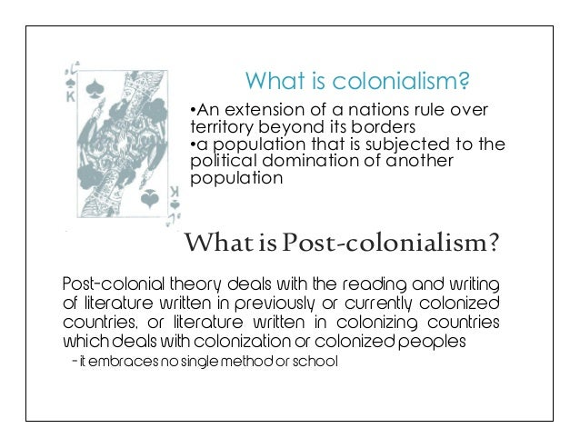 relationship between post structuralism and colonialism