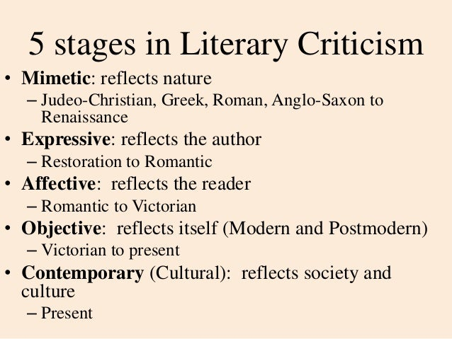postmodern criticism essay Postmodern literature is a type of literature that came to prominence after world war ii learn about how postmodernism in literature rejects many.