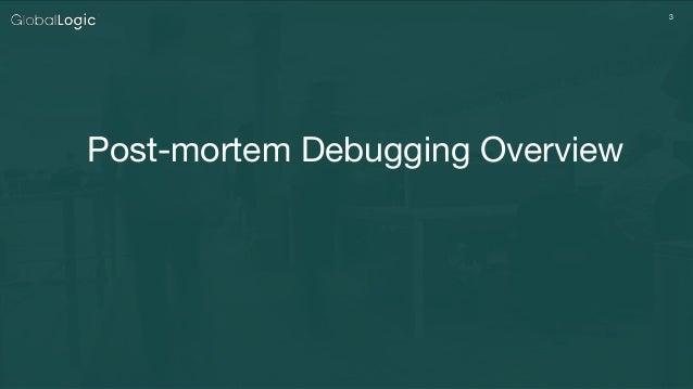 Post-mortem Debugging of Windows Applications