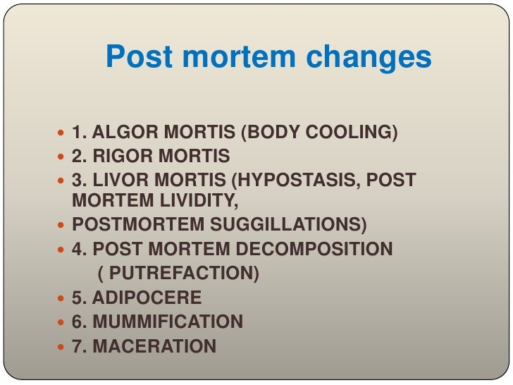 Post mortem examination(autopsy)