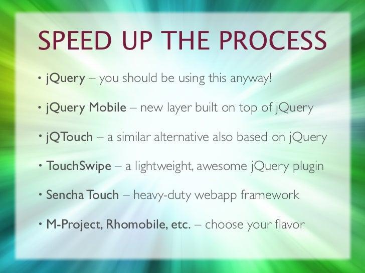 Post PC - Website Development in a Mobile, Touch-based World slideshare - 웹