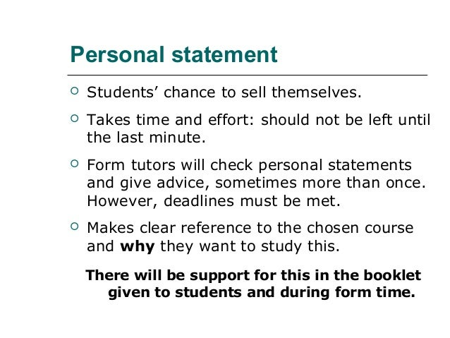 Personal statement writing services sixth form
