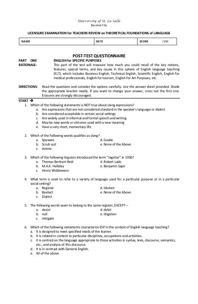 Let Reviewer For English Major Pdf