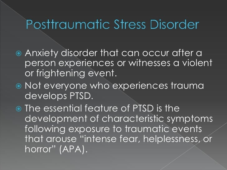 case studies on post traumatic stress disorder