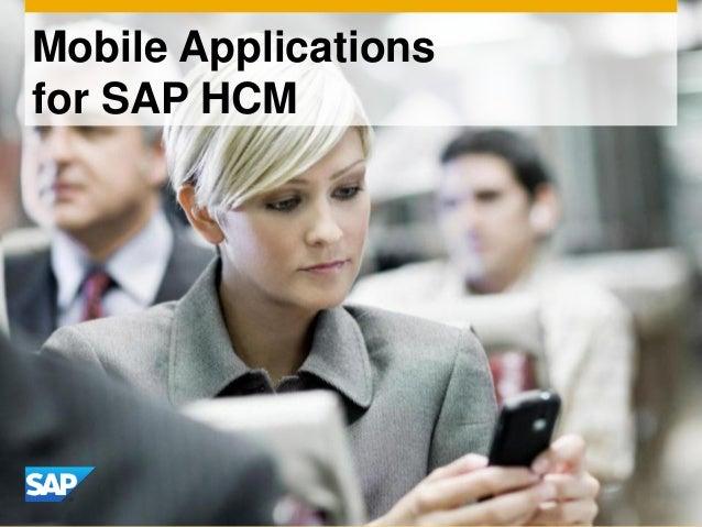 Mobile Applicationsfor SAP HCM