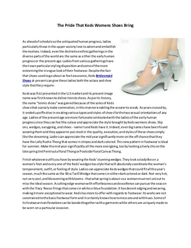 The Pride That Keds Womens Shoes Bring