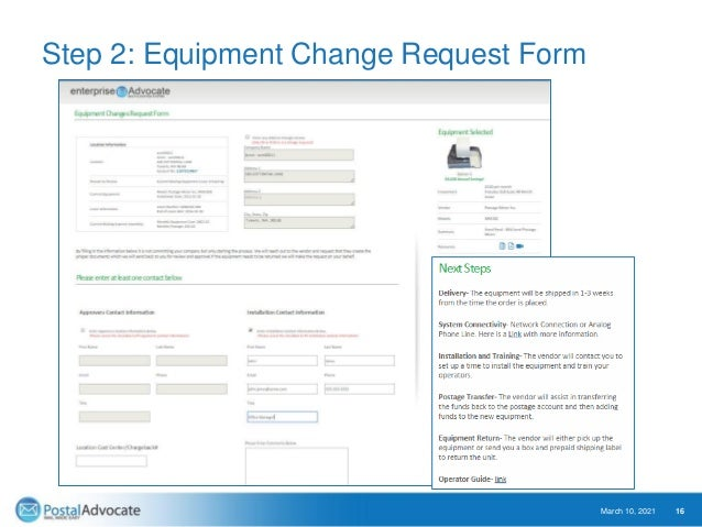 Step 3: Equipment Ordered Validation with Instructions March 10, 2021 17