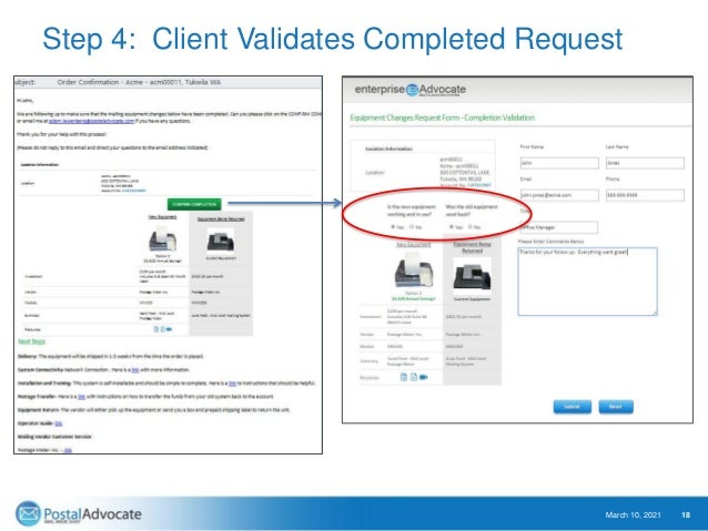 Eliminate Mailing Vendor Avoidable Fees March 10, 2021 19 Monitor future invoices to validate they do not return. Create o...