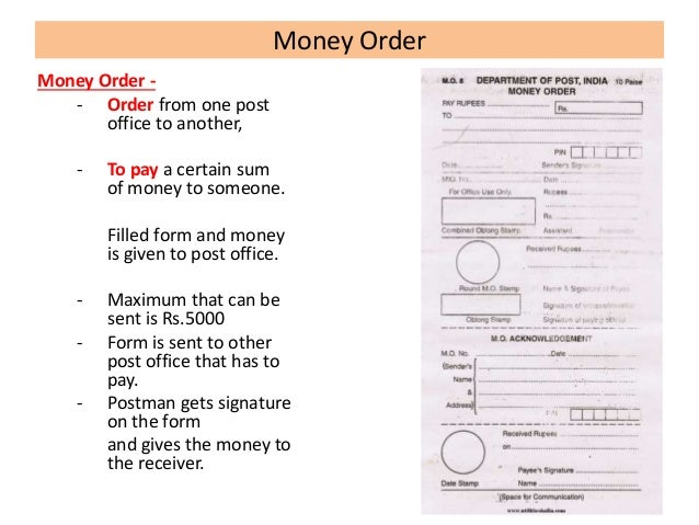 how to get a money order at the post office