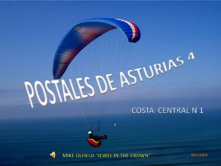 "POSTALES DE ASTURIAS 4<br />COSTA  CENTRAL N 1<br />MIKE OLFIELD ""JEWEL IN THE CROWN""<br />NO CLICK<br />"
