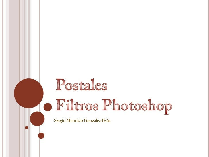 Postales - Filtros Photoshop