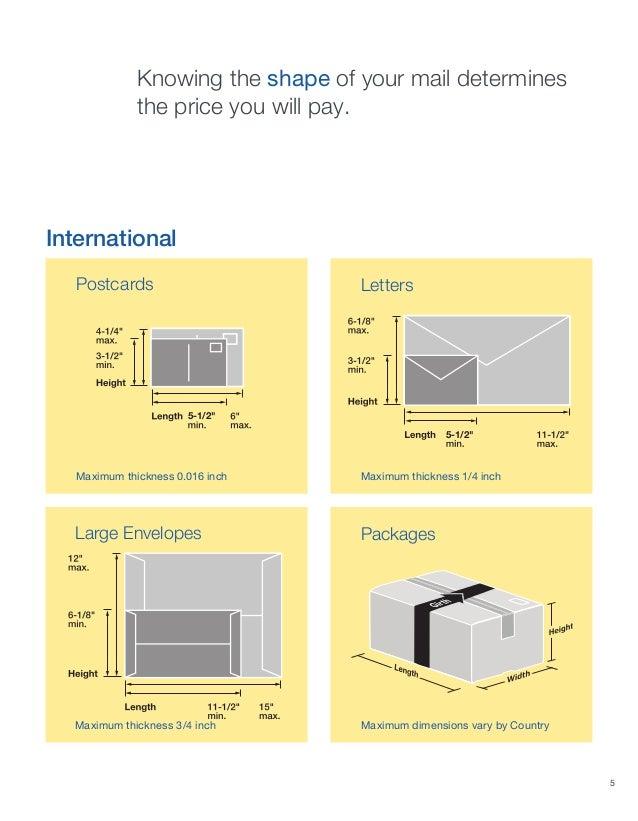 10 envelope dimensions