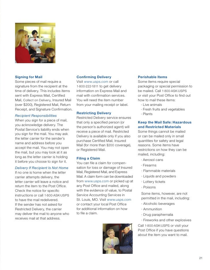 Postal Guide Jan 2010