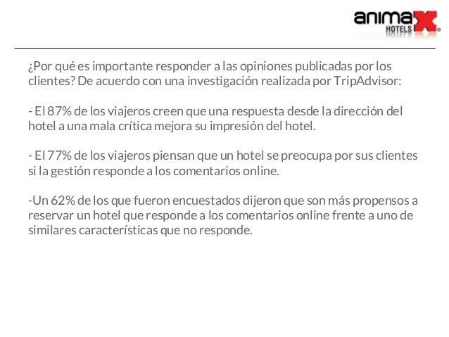 Guía: Cómo responder a los comentarios de tu Hotel en Tripadvisor Slide 3