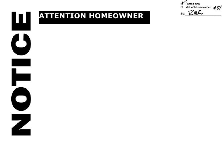 ATTENTION HOMEOWNER