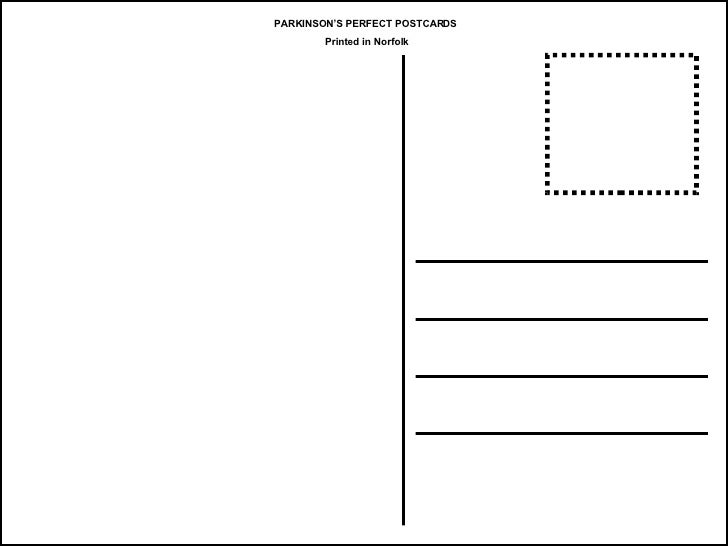 Postcard template for Postcard template for pages