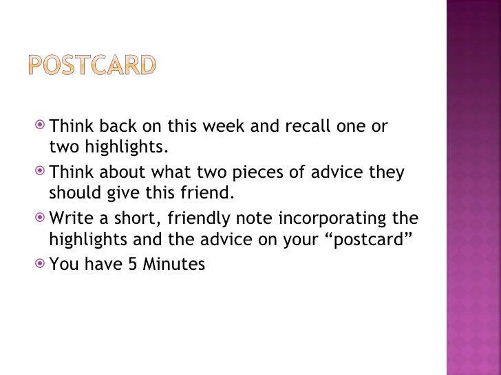 Postcard To A Friend