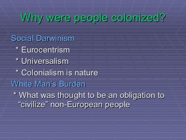 the oppression of the native americans by the colonizers 1 lecture 10 native american worldview i introduction a how does the worldview of native americans differ from that of euro-americans b the first american.