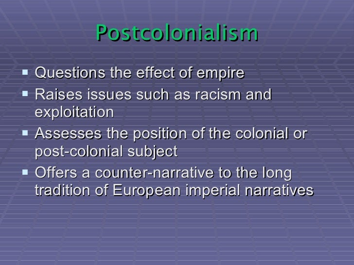 postcolonialism essay Analysis essay pride and prejudice pride and prejudice is a novel written in   possibilities of a topic such as post colonialism (brant, british colonization.