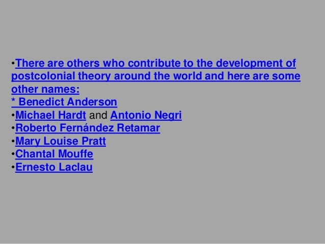 ethnic literature and postcolonialism in bartas essay Routledge view any product online using the urls below each listing geography new titles and key backlist 2011 urban studies development studies.