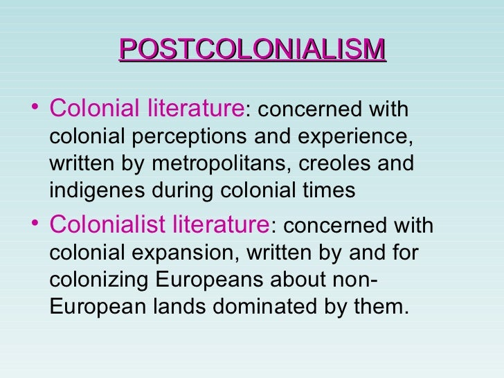 postcolonial criticism essay Essays and criticism on postcolonial african literature - critical essays.