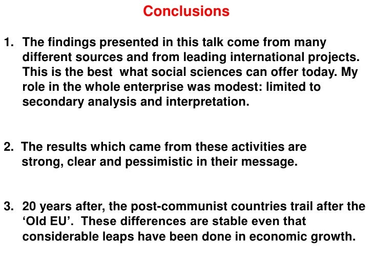 a comparison of the differences of the post communist states in eastern europe and central asia The influence of firm characteristics and export performance in central and eastern europe:  the post-communist countries located in europe and central asia.