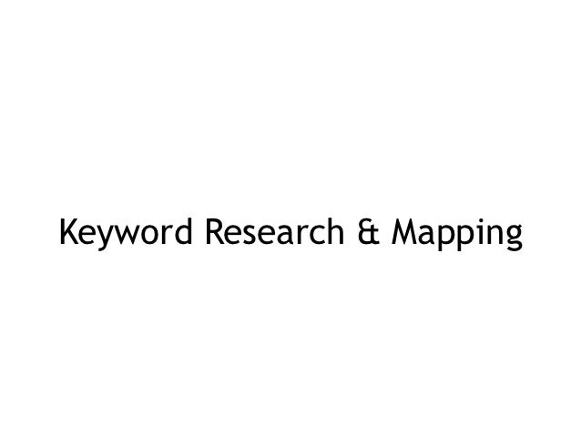 Keyword Research & Mapping